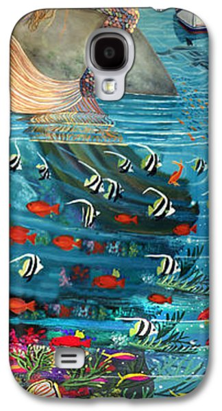 Triggerfish Paintings Galaxy S4 Cases - Mermaid In Paradise Galaxy S4 Case by Bonnie Siracusa