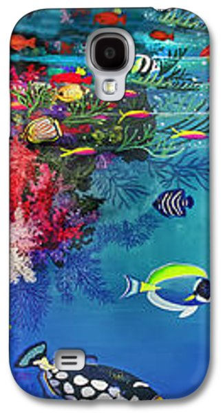 Triggerfish Paintings Galaxy S4 Cases - Mermaid In Paradise Complete Underwater Descent Galaxy S4 Case by Bonnie Siracusa