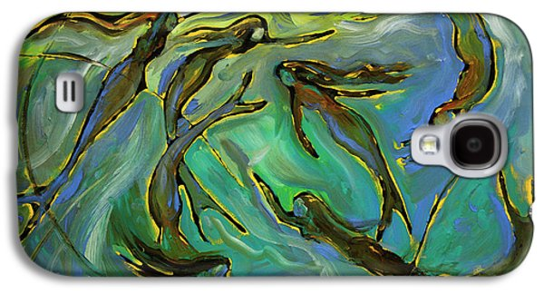 Fish Pond Galaxy S4 Cases - Mermaids Galaxy S4 Case by Frank Robert Dixon