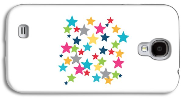 Shirt Galaxy S4 Cases - Messy Stars- Shirt Galaxy S4 Case by Linda Woods