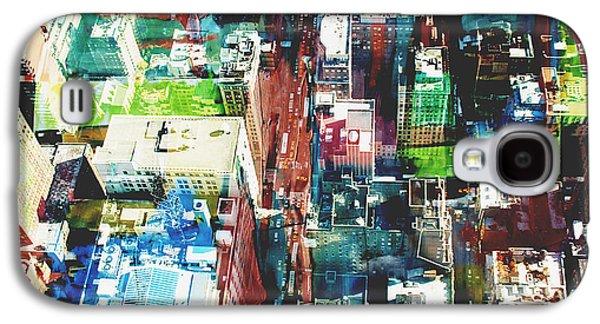 Contemporary Art Photographs Galaxy S4 Cases - Metropolis Galaxy S4 Case by David Studwell