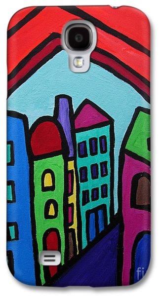 Church Pillars Paintings Galaxy S4 Cases - Mexican Pueblo I Galaxy S4 Case by Pristine Cartera Turkus