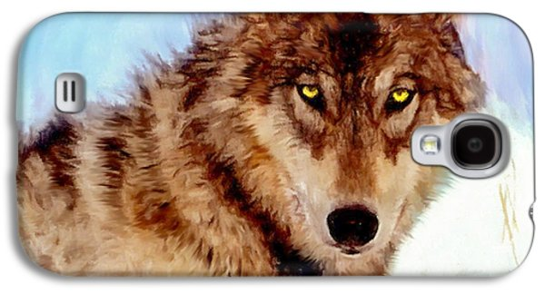 Dog Walking Digital Galaxy S4 Cases - Mexican Wolf Painting Galaxy S4 Case by  Bob and Nadine Johnston
