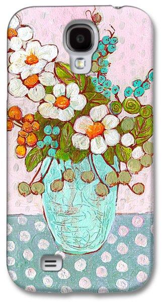 Mia Daisy Flowers Galaxy S4 Case by Blenda Studio