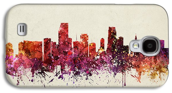 Miami Cityscape 09 Galaxy S4 Case by Aged Pixel