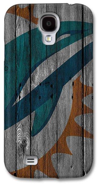 Miami Dolphins Wood Fence Galaxy S4 Case by Joe Hamilton