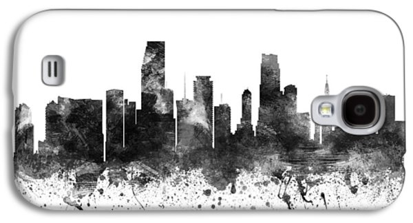 Miami Florida Cityscape 02bw Galaxy S4 Case by Aged Pixel
