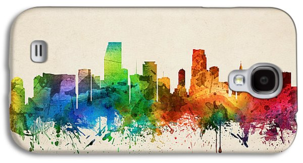 Miami Florida Skyline 05 Galaxy S4 Case by Aged Pixel