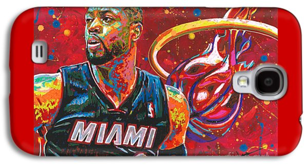 Miami Heat Legend Galaxy S4 Case by Maria Arango