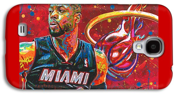 Nba Paintings Galaxy S4 Cases - Miami Heat Legend Galaxy S4 Case by Maria Arango