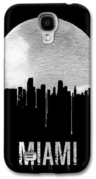 Miami Skyline Black Galaxy S4 Case by Naxart Studio