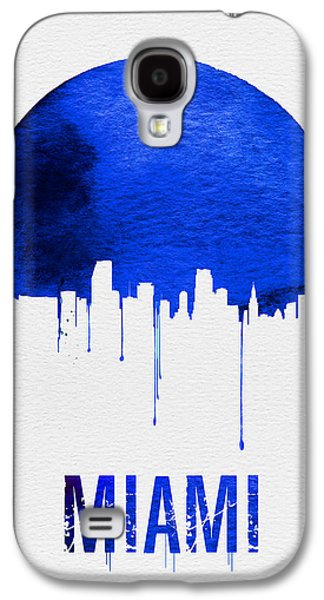 Miami Skyline Blue Galaxy S4 Case by Naxart Studio