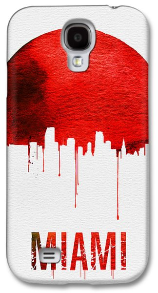 Miami Skyline Red Galaxy S4 Case by Naxart Studio