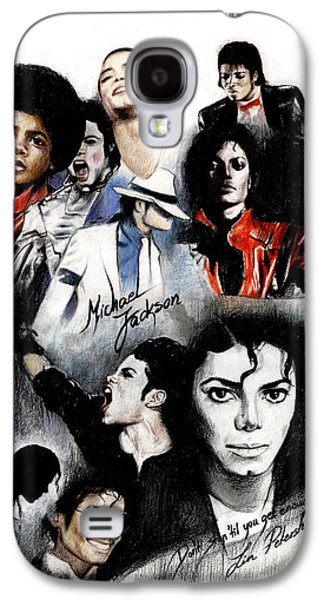 King Galaxy S4 Cases - Michael Jackson - King of Pop Galaxy S4 Case by Lin Petershagen