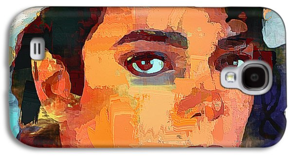 Abstract Nature Galaxy S4 Cases - Michael Jackson Portrait 03 Galaxy S4 Case by Yury Malkov