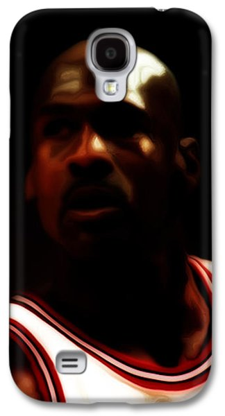 Slam Galaxy S4 Cases - Michael Jordan Game Time Galaxy S4 Case by Brian Reaves