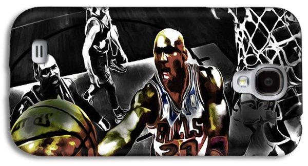 Slam Galaxy S4 Cases - Michael Jordan Got Em Looking Galaxy S4 Case by Brian Reaves