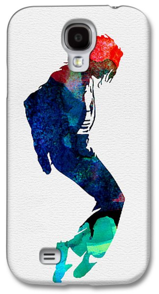 Michael Digital Galaxy S4 Cases - Michael Watercolor Galaxy S4 Case by Naxart Studio