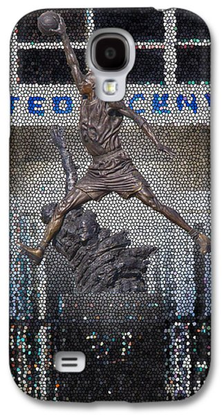 Dunk Galaxy S4 Cases - Michael Jordan Stained Glass Galaxy S4 Case by Robert Storost