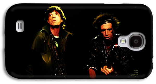 Keith Richards Galaxy S4 Cases - Mick Jagger and Keith Richards 4e Galaxy S4 Case by Brian Reaves