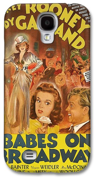 Posters On Mixed Media Galaxy S4 Cases - Mickey Rooney and Judy Garland - Babes on Broadway 1941 Galaxy S4 Case by Mountain Dreams