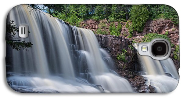 Landscape Acrylic Prints Galaxy S4 Cases - MIddle Falls at Gooseberry Falls State Park Galaxy S4 Case by Bill Bucu
