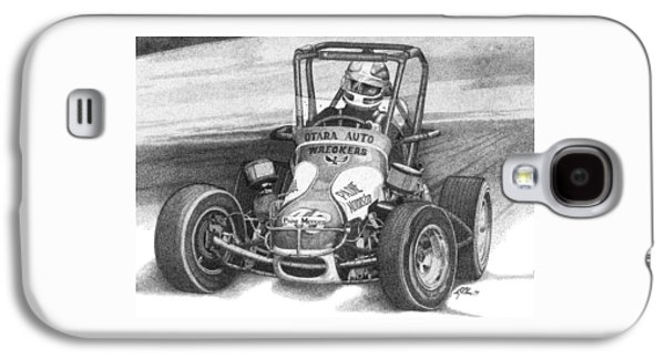 Drawing Galaxy S4 Cases - Midget Car Pointillism Drawing Galaxy S4 Case by Mike Oliver