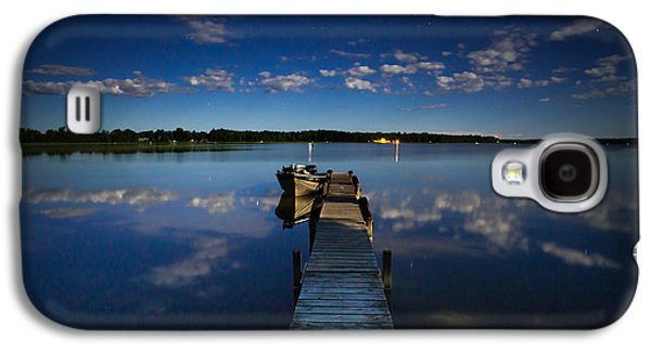 Midnight At Shady Shore On Moose Lake Minnesota Galaxy S4 Case by Alex Blondeau