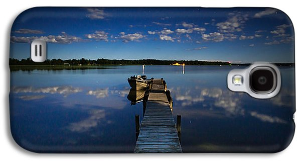 Loon Galaxy S4 Cases - Midnight at Shady Shore on Moose Lake Minnesota Galaxy S4 Case by Alex Blondeau