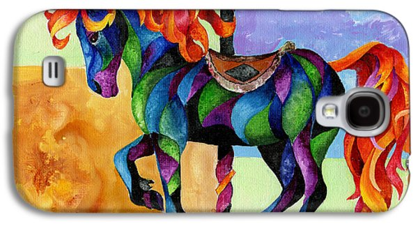 Carousel Horse Paintings Galaxy S4 Cases - Midnight Fire Galaxy S4 Case by Sherry Shipley