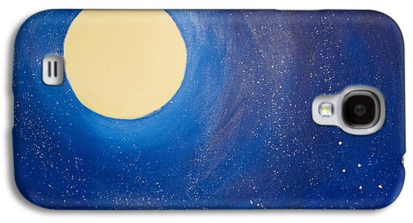 Constellations Paintings Galaxy S4 Cases - Midnight Galaxy S4 Case by Jacie  Garcia