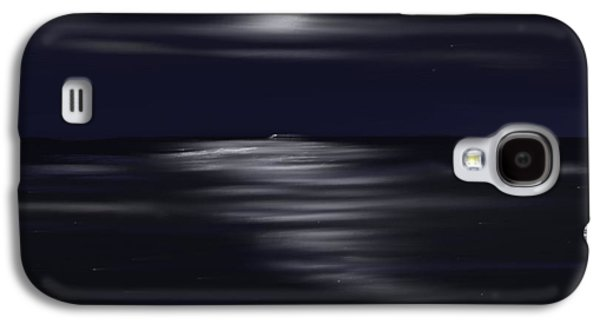 Skylines Pastels Galaxy S4 Cases - Midnight Moonlight Galaxy S4 Case by Jerod Roberts