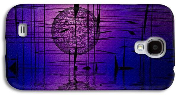 Abstract Digital Mixed Media Galaxy S4 Cases - Midnight Reeds Galaxy S4 Case by Mario Carini