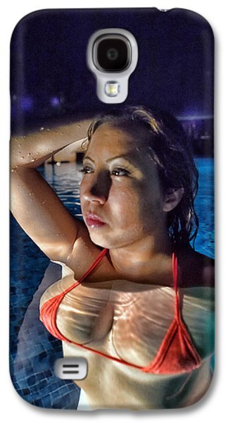 Girl Galaxy S4 Cases - midnight Rose Galaxy S4 Case by Frank Cotton