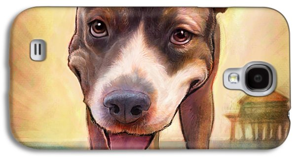 Dogs Paintings Galaxy S4 Cases - Mighty Isis Galaxy S4 Case by Sean ODaniels
