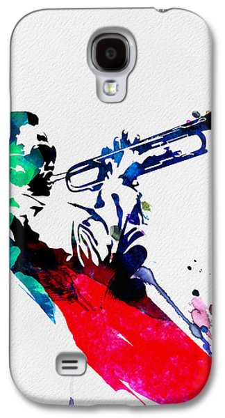 African-american Digital Galaxy S4 Cases - Miles Watercolor Galaxy S4 Case by Naxart Studio