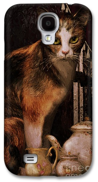 Milk No Sugar Calico Cat Galaxy S4 Case by Shanina Conway
