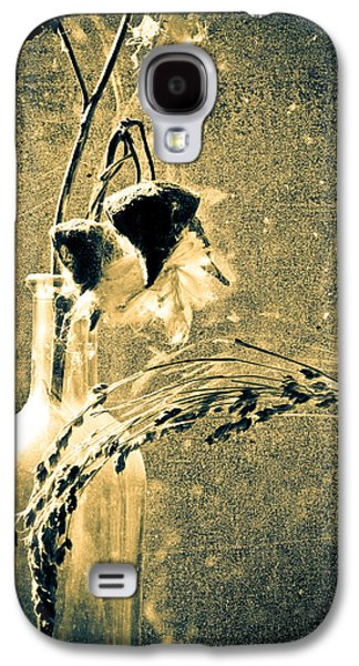 Dried Photographs Galaxy S4 Cases - Milk Weed and Hay Galaxy S4 Case by Bob Orsillo