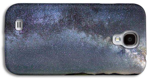 Dreamscape Galaxy S4 Cases - Milky Way Arc near Pyramid Lake Nevada Galaxy S4 Case by Tony Fuentes