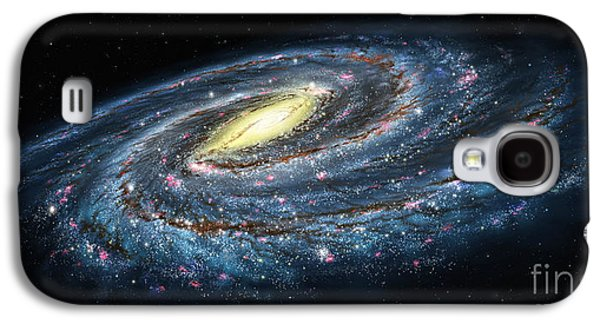 Milky Way Paintings Galaxy S4 Cases - Milky Way Galaxy Oblique Galaxy S4 Case by Lynette Cook