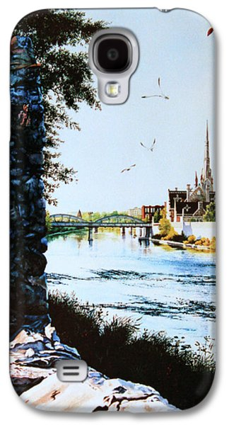 Cambridge Paintings Galaxy S4 Cases - Mill Race Look-out Galaxy S4 Case by Hanne Lore Koehler