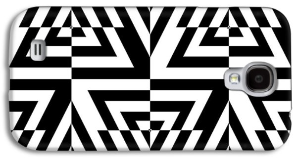 """square Art"" Drawings Galaxy S4 Cases - Mind Games 22 Galaxy S4 Case by Mike McGlothlen"