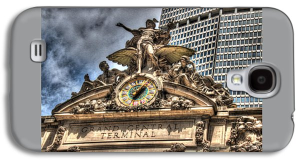 Business Galaxy S4 Cases - Minerva Hercules and Mercury Statuary Atop Grand Cental Station Galaxy S4 Case by Allen Beatty