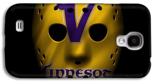 Sports Photographs Galaxy S4 Cases - Minnesota Vikings War Mask 2 Galaxy S4 Case by Joe Hamilton
