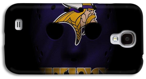 Sports Photographs Galaxy S4 Cases - Minnesota Vikings War Mask 3 Galaxy S4 Case by Joe Hamilton