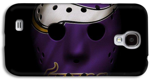 Sports Photographs Galaxy S4 Cases - Minnesota Vikings War Mask Galaxy S4 Case by Joe Hamilton