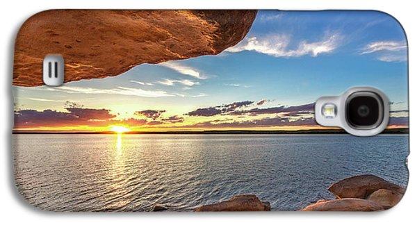 Overhang Photographs Galaxy S4 Cases - Minooka Sunset Galaxy S4 Case by Jill Van Doren Rolo