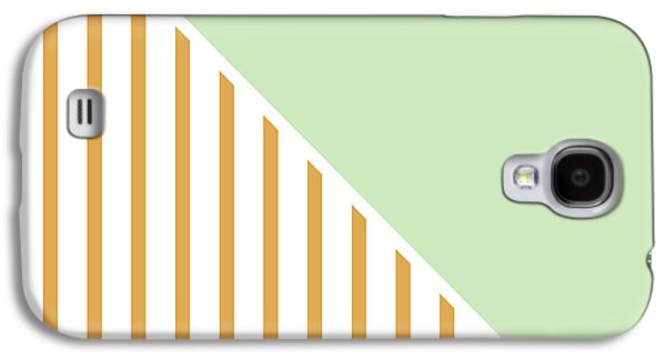 Geometric Shape Galaxy S4 Cases - Mint and Gold Geometric Galaxy S4 Case by Linda Woods