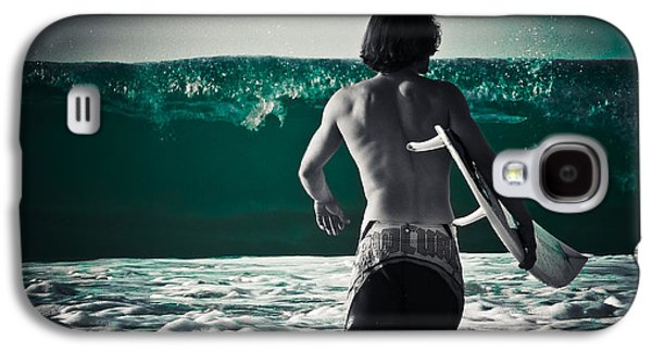 Sports Photographs Galaxy S4 Cases - Mint Surf Galaxy S4 Case by Loriental Photography