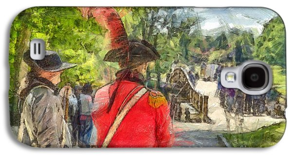 Minuteman And Redcoat Concord Ma Pencil Galaxy S4 Case by Edward Fielding
